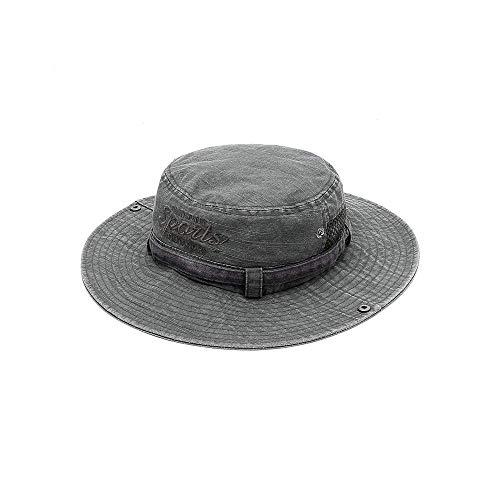 Cxmm Herren Eimer Hüte Sommer Outdoor Panama Safari Hut gewaschen Sonnenhut UV-Schutz Angeln Hut Männer Frauen Safari Panama