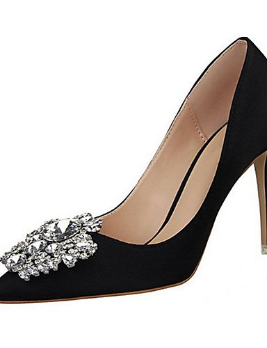 WSS 2016 Chaussures Femme-Décontracté-Noir / Vert / Rose / Rouge / Argent / Gris / Or-Talon Aiguille-Talons-Talons-Laine synthétique golden-us5.5 / eu36 / uk3.5 / cn35