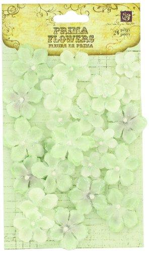 PRIMA 538446Pearl penache Stoff Blume Verzierungen, Elf Grün