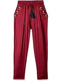 Cherokee Girls' Slim Regular Fit Rayon Trousers