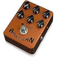 Sairis Effect Pedal reproduce el simulador de sonido Bajo eléctrico Compresión dinámica Efectos Suministro de guitarra (marrón)