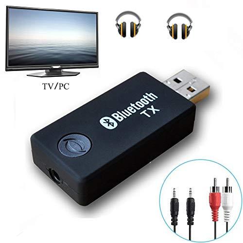Bluetooth transmisor, yetor 3,5 mm estéreo portátil inalámbrico de audio Bluetooth Transmisor para televisor, ipod, mp3/mp4, usb Fuente de alimentación (tx9 -2018)