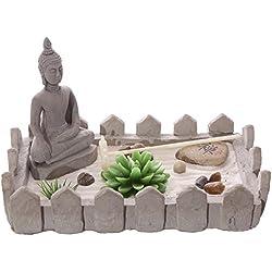 Buda Zen para jardín con T luz vela