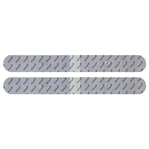 Axion - 2 Électrodes extra-longues pour le dos - 33x4 cm - compatible avec les appareils Beurer (Em 40/Em 41/Em 41.1/Em49/ Em 80) et Sanitas (SEM 40/41/42/43/44)