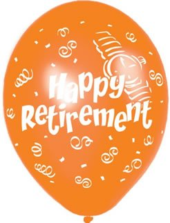 Amscan International Happy Retirement Latex Ballons,