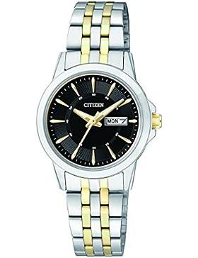 Citizen Damen-Armbanduhr Analog Quarz Edelstahl EQ0608-55EE