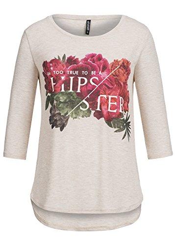 Hailys Femme Hauts / T-Shirt manches longues Rose Beige