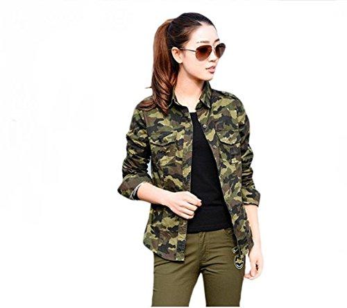Naaz women's Casual Army Military Green Shirt (Olive Green) (Army Green, Medium)