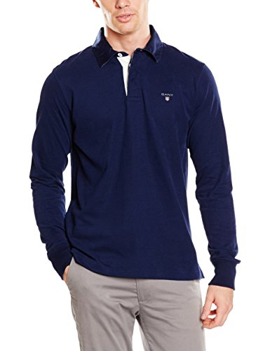 GANT the Original Heavy Rugger, Felpa Uomo, Blau (Shadow Blue 403), Medium
