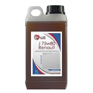 DLLUB - HUILE DE BOITE VITESSE RENAULT J 75W80 - 1 litre
