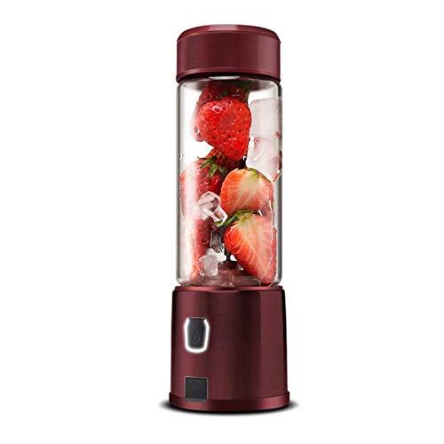 XHHWJJ Frullatore per frullati, USB Portatile Ricaricabile Spremiagrumi per coppette, Frullatore per Frutta Singolo, Frullino Multifunzione per Viaggi