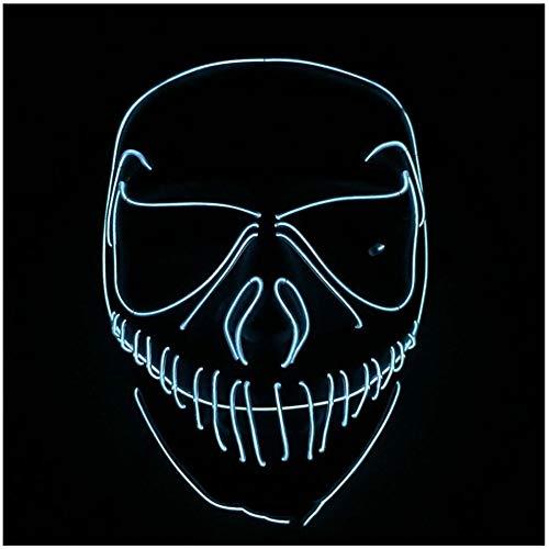 SPFAZJ Halloween Horror Modellierung Glow Prom Led Leuchten Maske guter Qualität Street Dance Maske