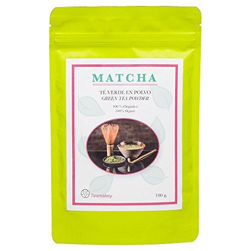Matcha tee 100g. Bio-Landwirtschaft grüner Tee. Matcha Pulver Zeremoniell. Leistungsstarkes Antioxidans, hilft, Gewicht und Konzentration zu verlieren. Grüner tee Matcha ohne Zusatzstoffe. Tesmakey.