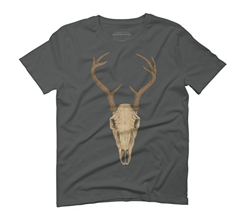 Deer Skull Men's Graphic T-Shirt - Design By Humans Anthracite