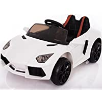 Price comparsion for Lamborghini Aventador Style 12V Kid's Battery Operated Ride On Children's Electric Car, Working Lights, Opening 'Scissor' Doors, Suspension, MP3 Connectivity, 2.4G Parental Remote Control