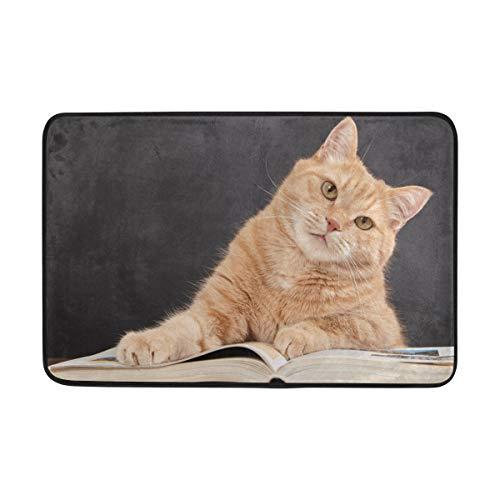 Use7 Fußmatte für den Innen- und Außenbereich, Katzenmotiv, 60 x 40 cm