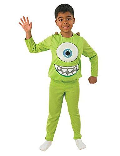 Die Monster Uni Mike Deluxe Kinder Kostüm Lizenzware grün weiss S