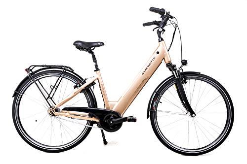 28 Zoll Saxonette Selection Elektro Fahrrad E-Bike Pedelec Shimano 36 V 504Wh Mittelmotor Gold