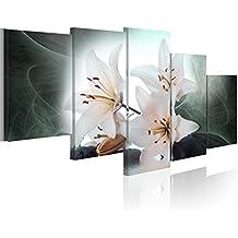 200x100 !!! FORMATO GRANDE + Impresion en calidad fotografica + 5 partes + flores + cuadro 030110-2 + 200x100 cm +++ GRAN VARIEDAD DE CUADROS Y IMPRESOS ARTÍSTICOS EN NUESTRA TIENDA VIRTUAL +++