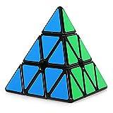 MOMEY Piramide Speed Cube 3x 3Triangolo Magico cubo Puzzle Nero Nero