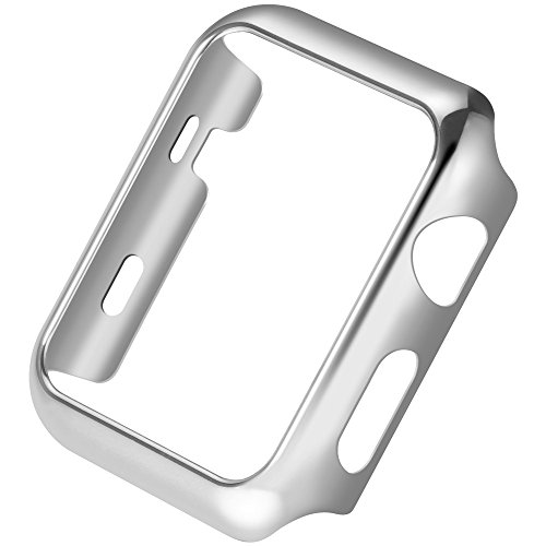 Apple Watch PC Plated Protective Cover Case HOCO Pinhen Thin Pc Plated Plating Protective Bumper Case for Apple Watch Series 2 (38MM Silver) Test