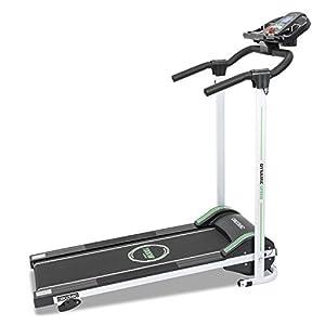 Cecotec RunnerFit Step Black Series Laufband. 12 voreingestellte Programme, LED-Anzeige, 10 km/h, Mit Lautsprechern, Magnetisches Sicherheitssystem, Klappbar, 1000 W.