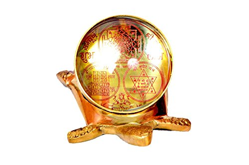 Vibgyor Vibes Brass Metal Vaastu/Fengshui Tortoise/Turtle (For Good Luck) with InBuilt Shri Yantra, Shri Kuber Yantra and Shri Vyapar Vridhi Yantra (Golden Colour)  available at amazon for Rs.549