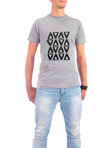 """Design T-Shirt Männer Continental Cotton """"Triangles Painting"""" - stylisches Shirt Abstrakt Geometrie Essen & Trinken Fashion von Paper Pixel Print Grau"""