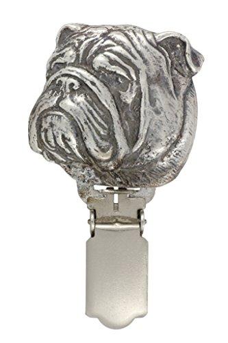 English Bulldog, Hund clipring, Hundeausstellung Ringclip/Rufnummerninhaber, limitierte Auflage, Artdog -