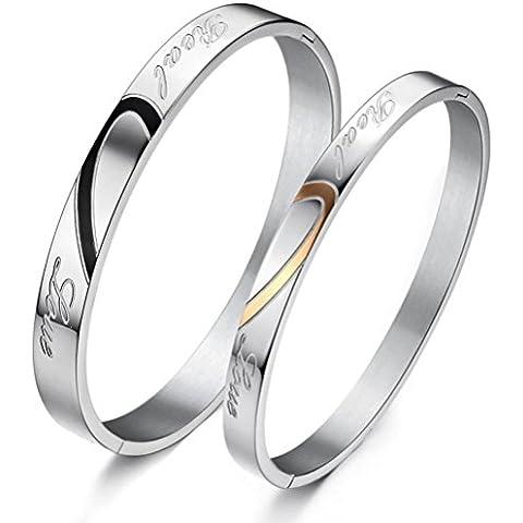 ZPL de acero de titanio joyas de amor rompecabezas regalo del amante anillo de la mano pareja
