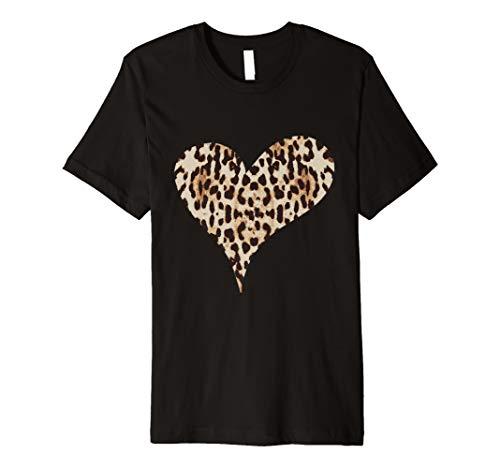 Gepard Leopard Druck Herz Liebe t-shirt - Leopard-druck-herz