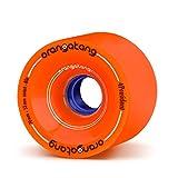 Orangatang 4 President 70 mm 80a Cruising Longboard Skateboard Wheels (Orange, Set of 4)