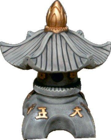 Figura Farol Oriental DE Piedra para Jardin O Exterior 44cm.Ceniza