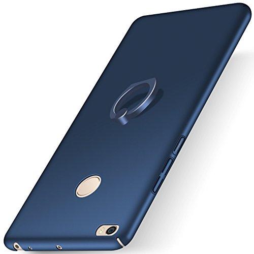 "XMT Xiaomi Mi Max 2 6.44"" Funda,PC Hard Gel Funda Con Ring Stand Protective Case Cover para Xiaomi Mi Max 2 Smartphone (Azul)"