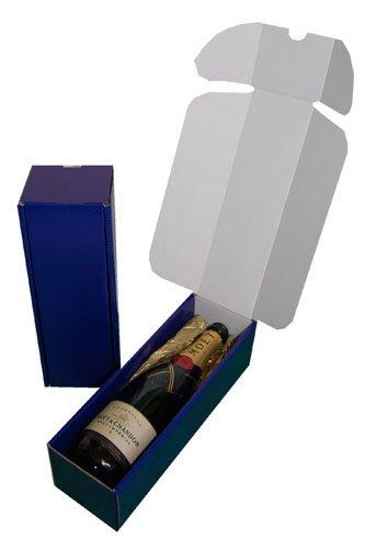 10 azul cartón cajas regalo presentación botella