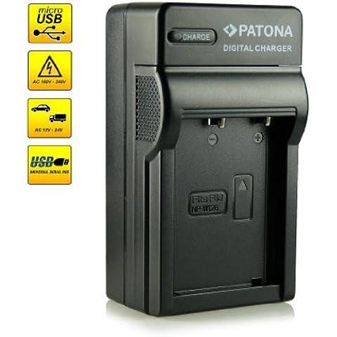 ¡Novedad! – El primero cargador de batería con conexión micro USB · adecuado para la batería NP-W126 para FujiFilm FinePix X-Pro 1 | HS30 EXR | HS30EXR | HS-30EXR | HS33 EXR | HS33EXR | HS-33EXR | HS50EXR | X-E1 | X-M1 y mucho
