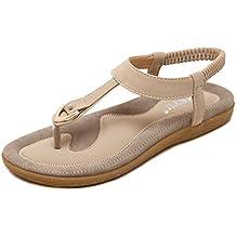Sandalias Mujer 2018, ❤️ Ba Zha HEI Moda Mujer Sandalias Mujer Verano 2018 Cómodas Sandalias Bohemias Cómodas Zapatillas Tallas Grandes Para Mujer Para Mujer Venta Caliente!