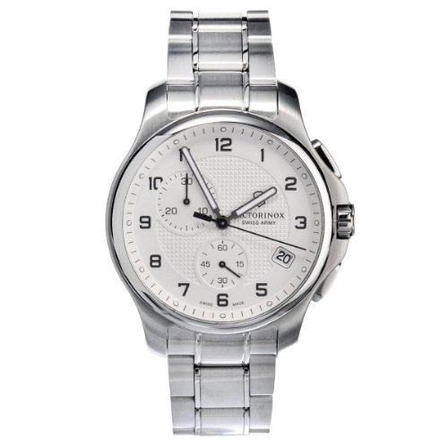 Victorinox Swiss Army–Reloj de pulsera para hombre XL Classic Officer 's Cronógrafo Cuarzo Acero inoxidable 241554