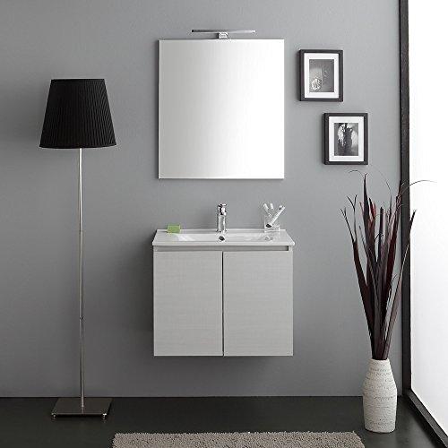 Mobile bagno sospeso 60 cm salva spazio berlin grigio