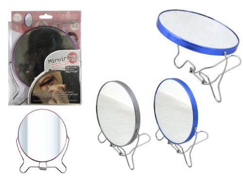 Miroir double-face grossissant