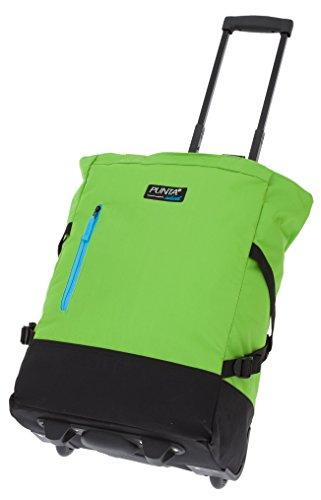 2er SET: PUNTA WHEEL Einkaufstrolley Einkaufsroller + Faltschopper / GREEN BLACK (Grün) 3301