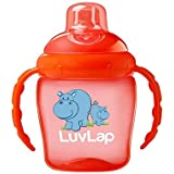 Luvlap Hippo Sipper, Orange, 225ml