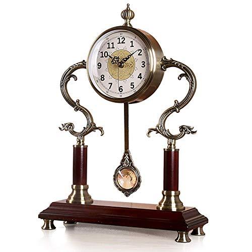 Mieoson Multifunktions-Wanduhr Uhr Restro Crafts Dekorativer Schreibtisch ohne Ticking Silent, Batteriebetrieb, Tisch, für Zuhause/Küche/Büro/Hotel/Shop, Einfach zu lesen by (Größe : 4)