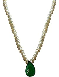 Surat Diamonds Real Drop Green Onyx Strand Necklace for Women(SN491)