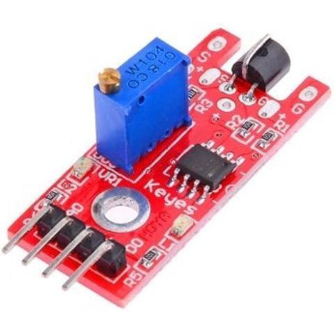 Andonger Modulo sensore Arduino Compatibile corpo umano Touch - Rosso + Blu