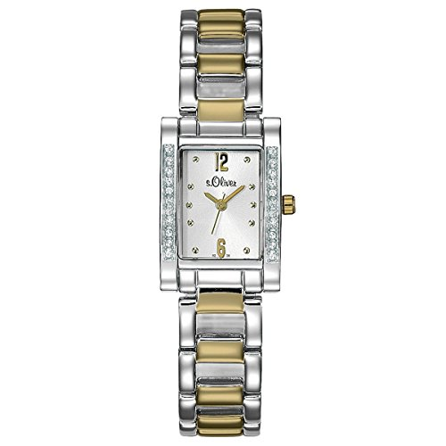 s.Oliver Damen-Armbanduhr Analog Quarz SO-15010-MQR