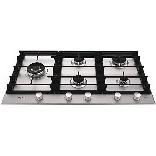 Whirlpool GMW 9552/IXL 5 Gas Burner Stainless Steel Hob Best Price and Cheapest