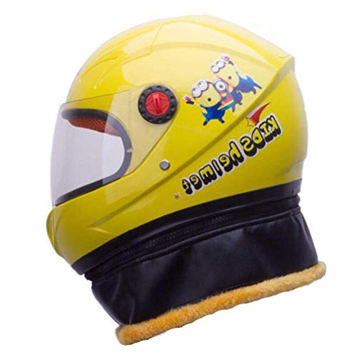 Sconosciuto Casco da moto integrale per bambini con casco di sicurezza per bambini Electromobile Casque Casco Capacet