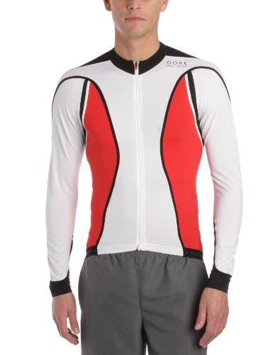 Gore Bike WEAR Herren Trikot Oxygen Full Zip Long, White/red, XXL, SLOXYO013511