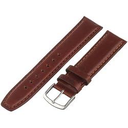 Hadley-Roma Men's MSM881RAC-190 19-mm Honey Oil-Tan Leather Watch Strap